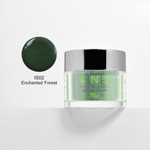 SNS Nail Dipping Powder IS02 - Enchanted Forest 1oz