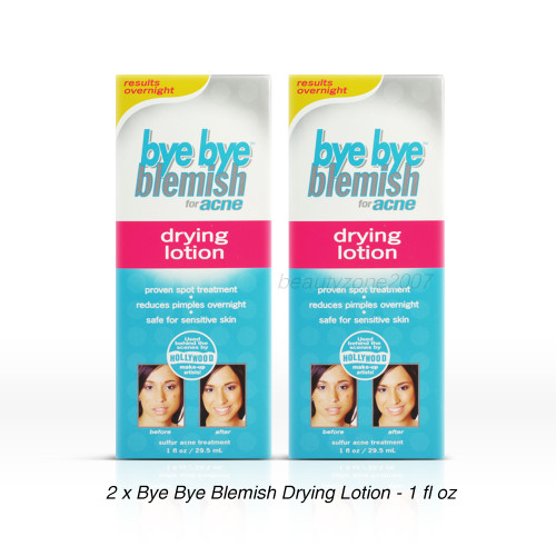 Bye Bye Blemish Drying Lotion for Acne - 1 fl oz ( Pack of 2)