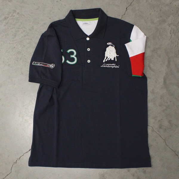 Driving Tri Navy Polo