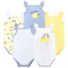 Sleeveless Bodysuits, Lemon, 5-Pack