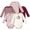 Organic Cotton Bodysuits, Berry Branch Long Sleeve 5-Pack