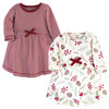 Toddler Organic Cotton Dresses, Holly Berry Long Sleeve 2-Pack