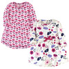 Toddler Organic Cotton Dresses, Pink Botanical Long Sleeve 2-Pack