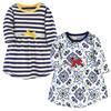 Toddler Organic Cotton Dresses, Pottery Tile Long Sleeve 2-Pack