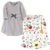 Toddler Organic Cotton Dresses, Flutter Garden Long Sleeve 2-Pack