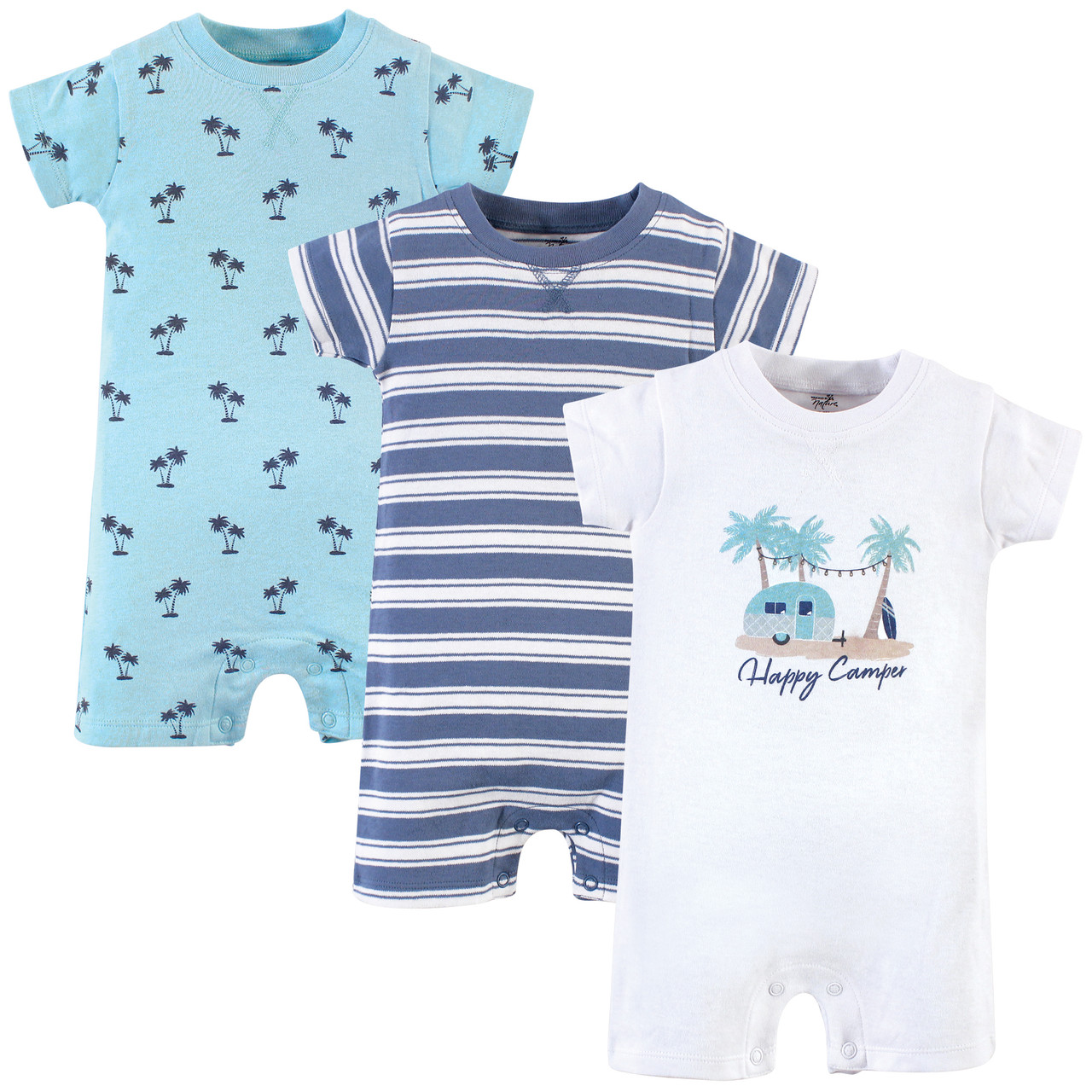 Touched by Nature Baby-Boys Unisex Baby Organic Cotton Rompers Baby and Toddler T-Shirt Set