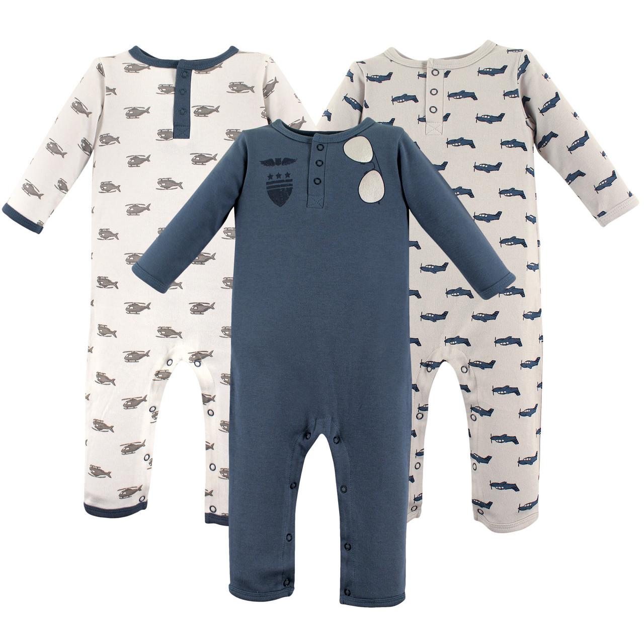 Aviator 3-Pack Hudson Baby Boy Sleep Gowns