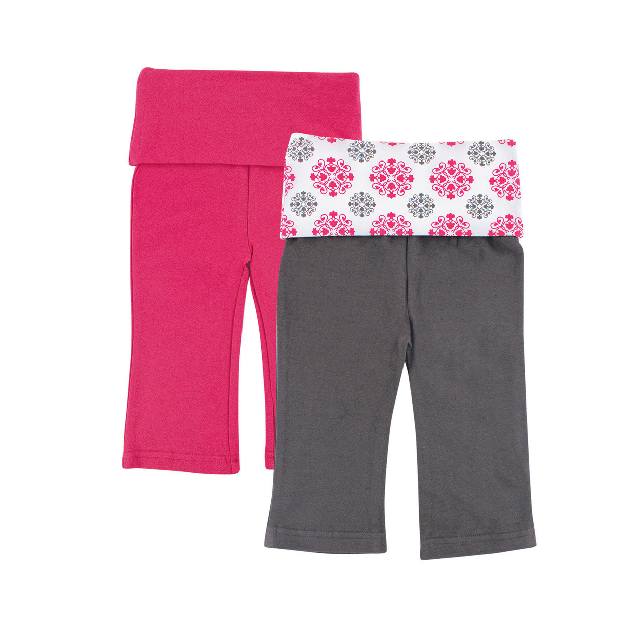 Yoga Sprout Yoga Pants 2 Pack Pink Medallion Baby And Toddler Clothes Accessories And Essentials