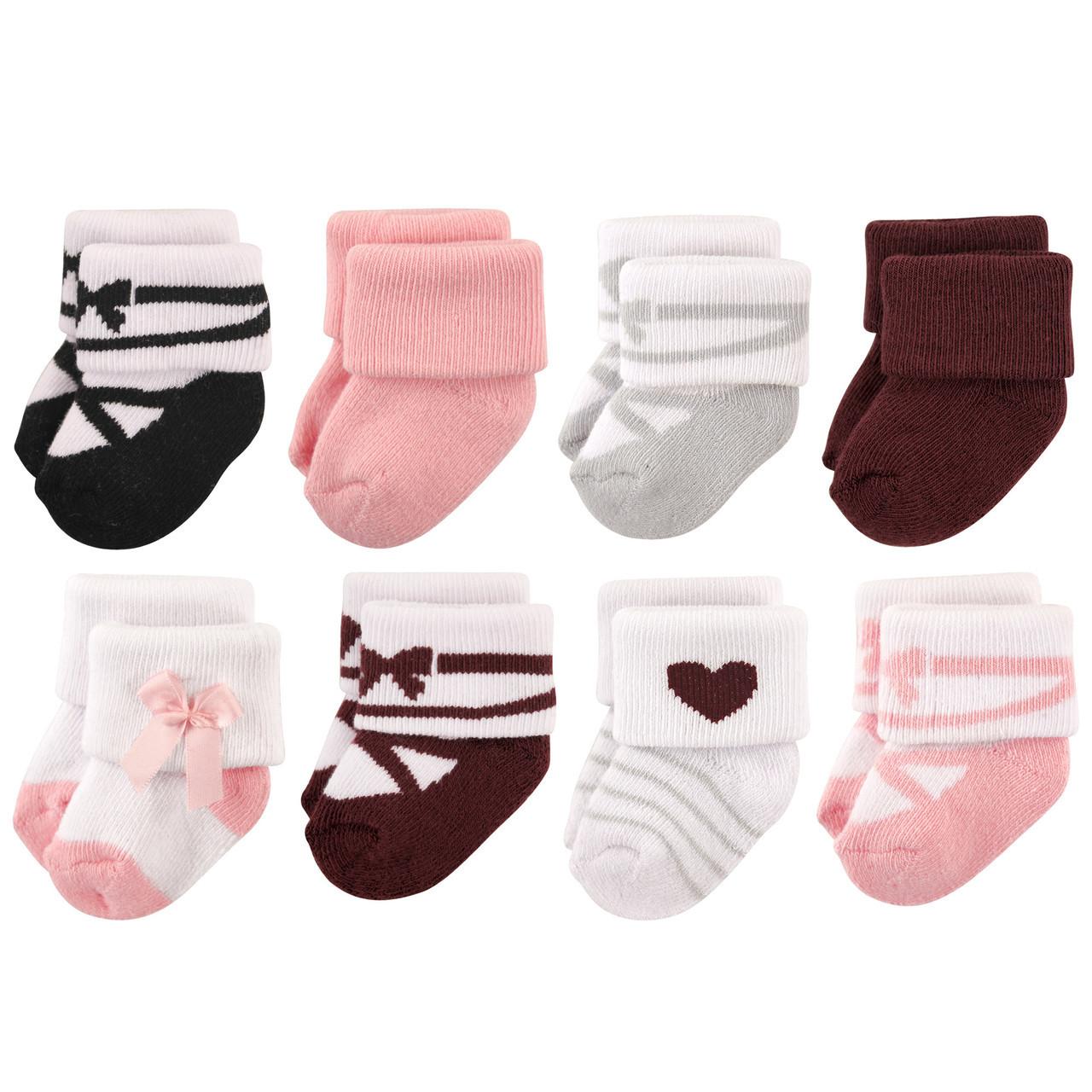 0-6 Months Hudson Baby Socks Basic Ballet 8Pk