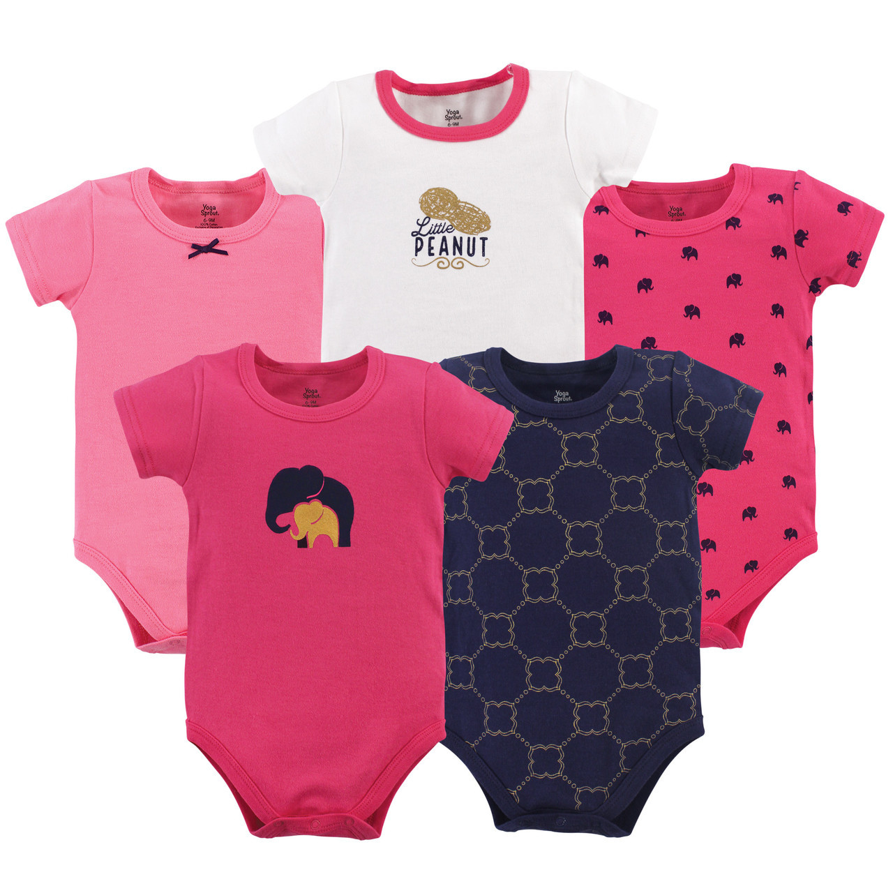 Yoga Sprout Baby Cotton Bodysuits,