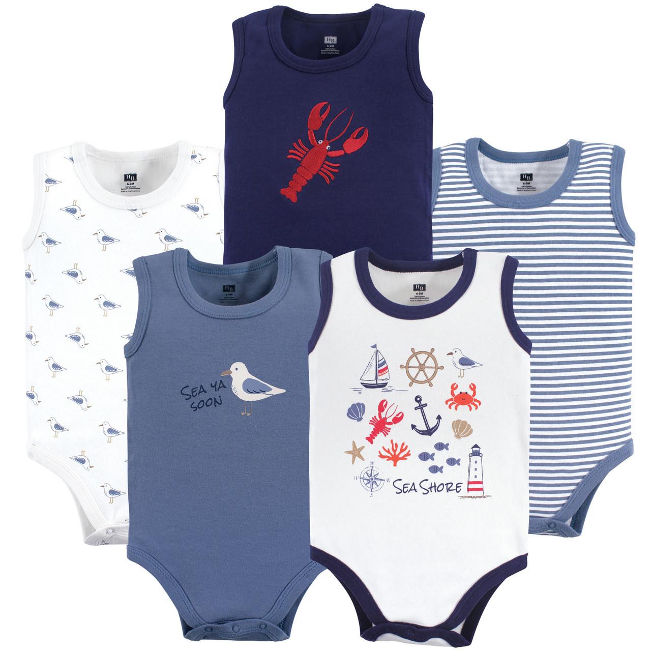 Cactus 5-Pack Hudson Baby Boy Sleeveless Bodysuits
