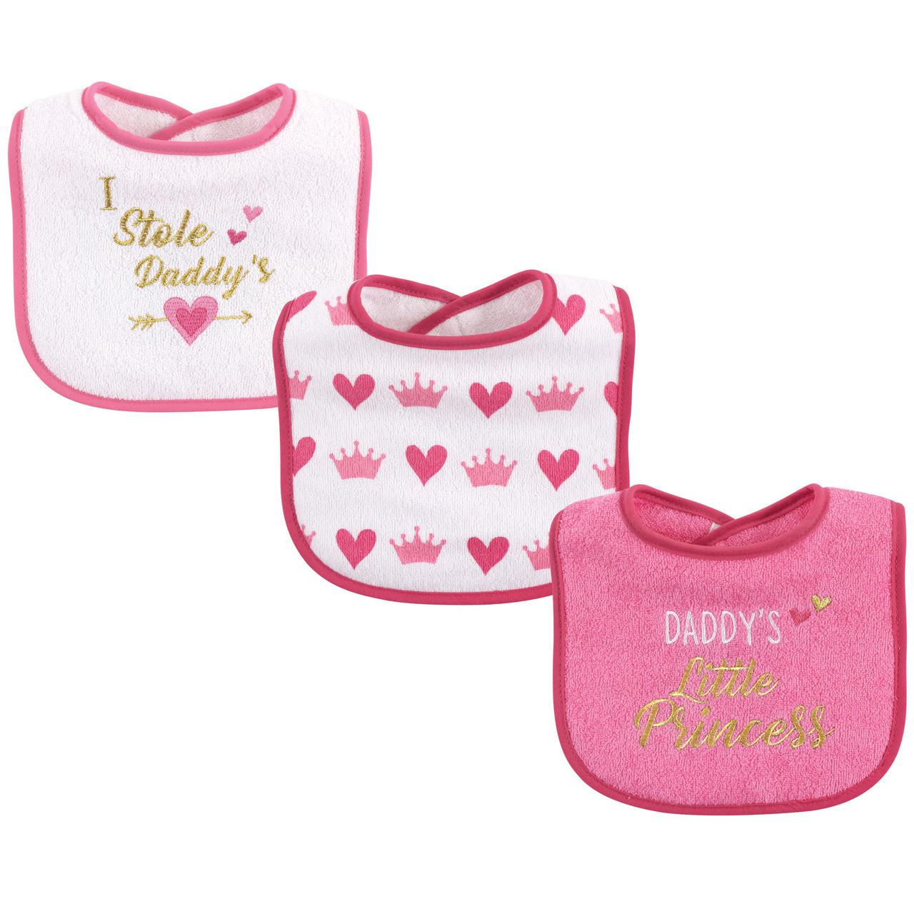 Luvable Friends 3 Pack Baby Girl Bibs