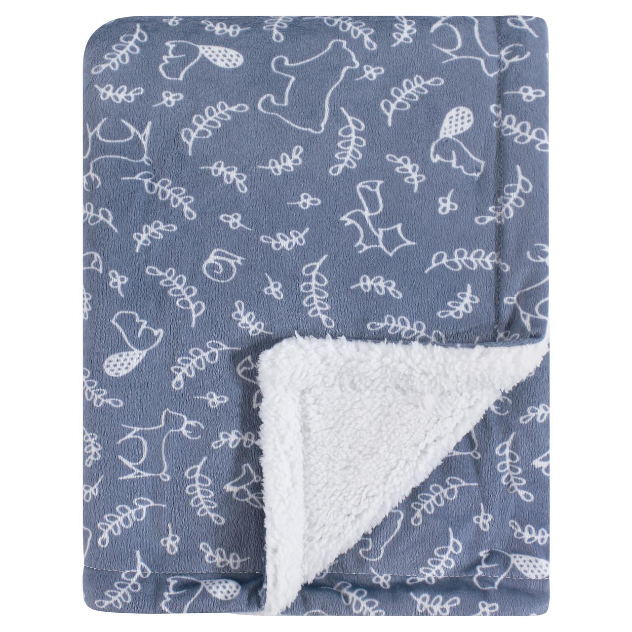 Hudson Baby Mink Blanket with Sherpa Backing Hedgehog One Size