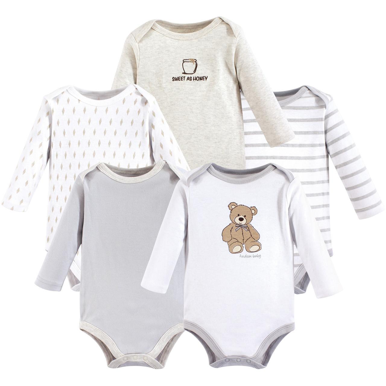 Hudson baby Long Sleeve Bodysuits