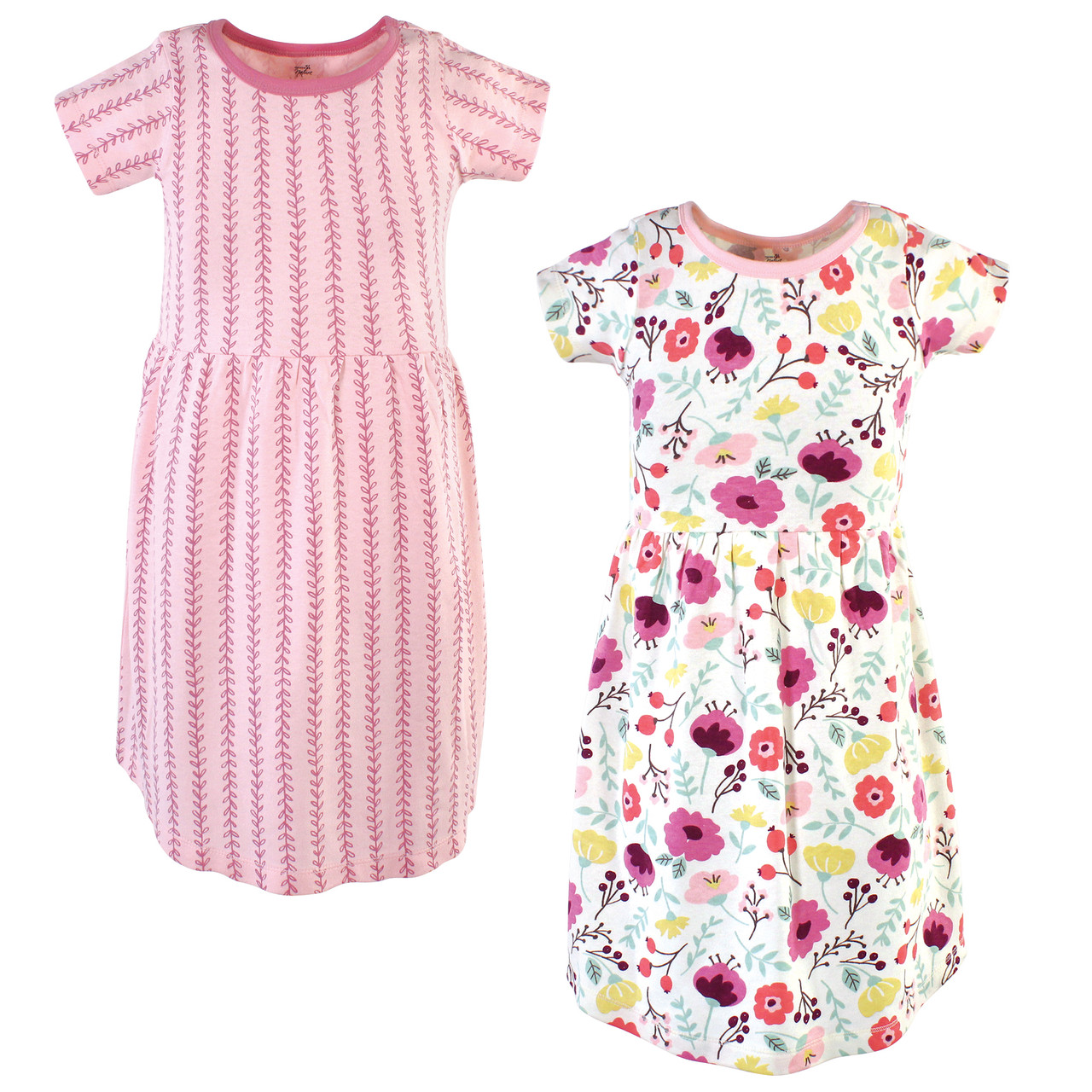 2-Pack Red Poppy Touched By Nature Girl Toddler Organic Cotton Dress