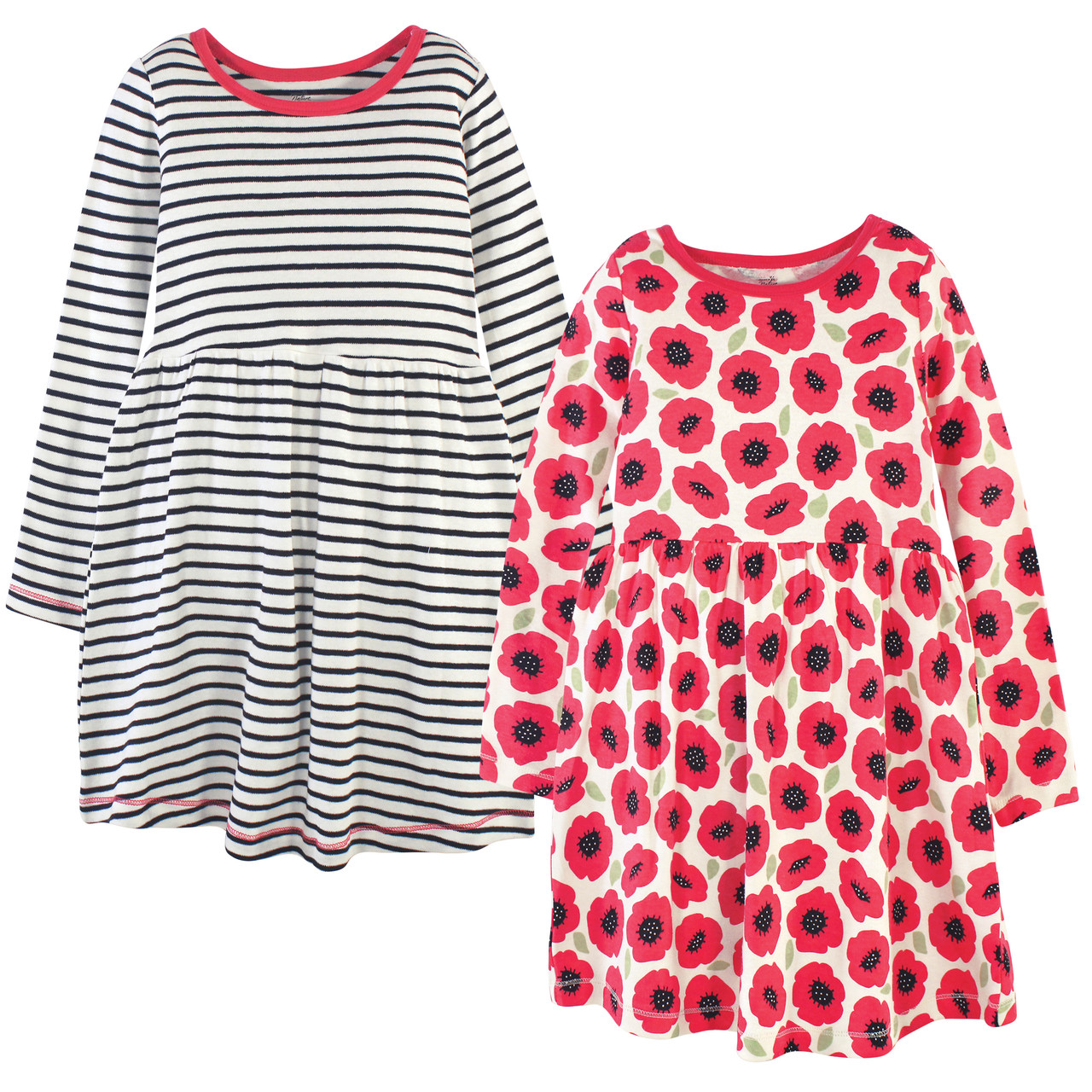 Touched by Nature Organic Cotton Rompers Poppy
