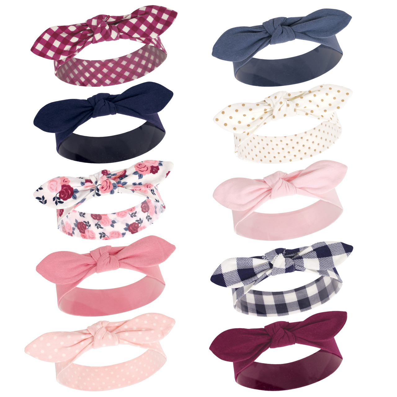 0-24 Months Bright Colors Hudson Baby Unisex Cotton and Synthetic Headbands