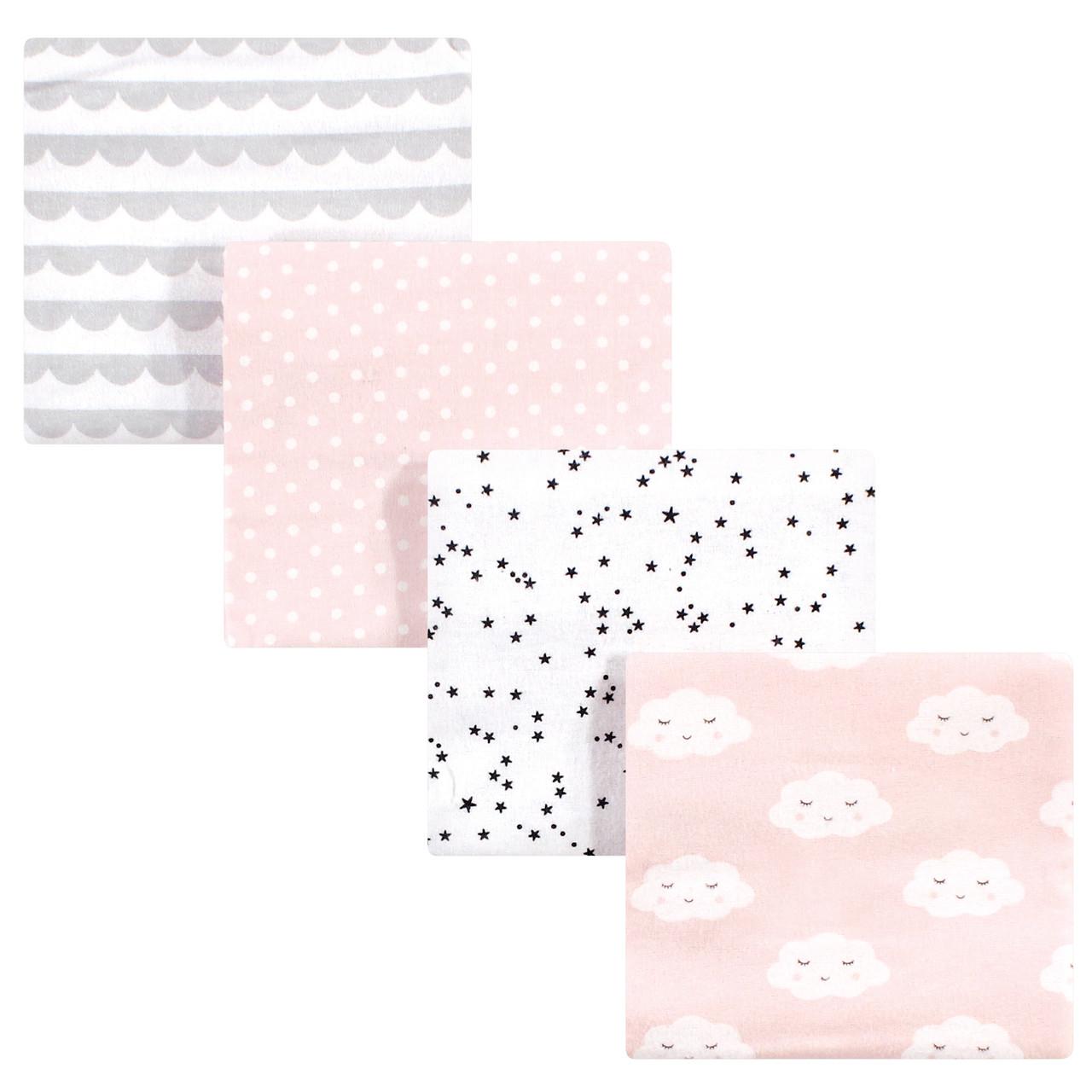 One Size Paris Hudson Baby Flannel Receiving Blankets 7pk