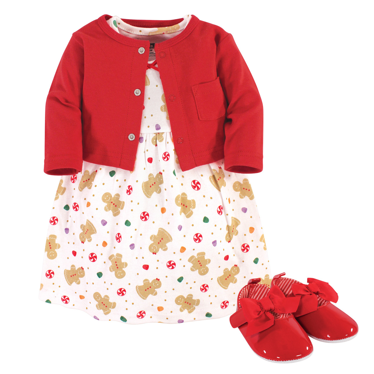 Fall Floral Hudson Baby Girl Dress and Cardigan