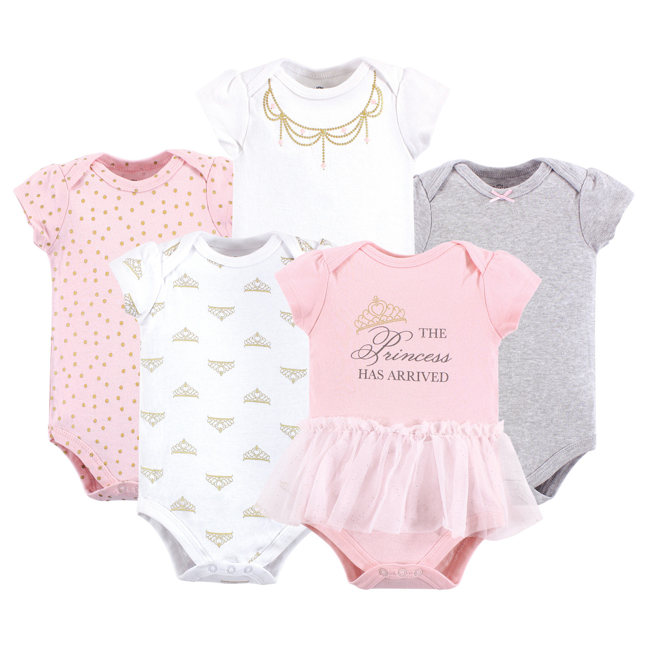 Little Llama 5-Pack Hudson Baby Girl Bodysuits