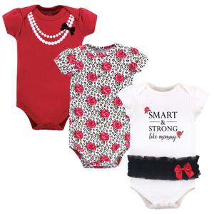 Pearls 5-Pack Little Treasure Girl Cotton Bodysuits