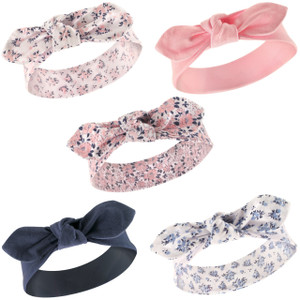 Navy Moroccan 5-Pack Yoga Sprout Girl Headbands