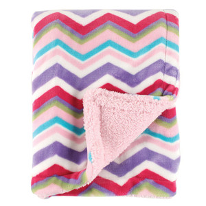 Hudson Baby Double Layer Blanket Blue by Hudson Baby