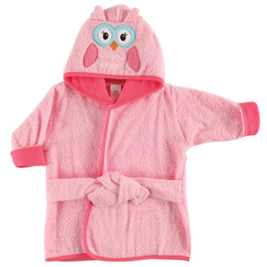 One Size Girl Penguin Luvable Friends Unisex Baby Cotton Animal Face Bathrobe