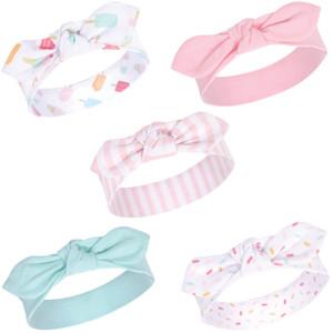 Hudson Baby Girl Headband and Scratch Mittens Unicorn 6-Piece Set