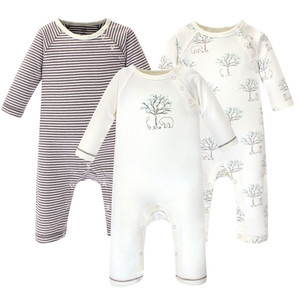 Football Hudson Baby Fleece Union Suits 2-Pack