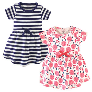 Rose and Berries Touched By Nature Girl Organic Cotton Dress 2-Pack