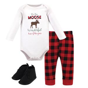 Hudson Baby Animal Fleece Lined Booties Moose