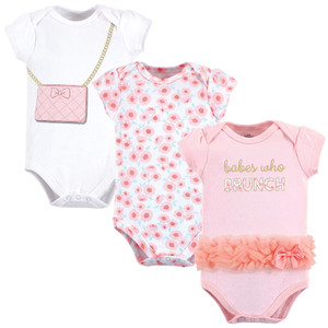 Free Spirit 5 Pack Little Treasure Girl Cotton Bodysuits