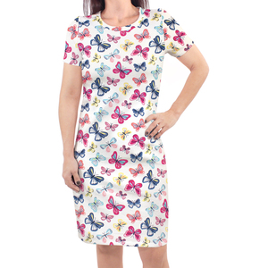 Bright Butterflies Touched By Nature Girl Organic Cotton Dress 2-Pack
