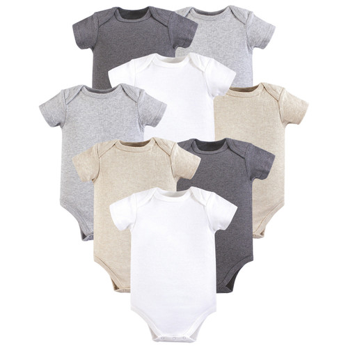 a13e95630 Bodysuits, 8-Pack, Heather Gray. Hudson Baby 8-Pack hanging bodysuits are  ...