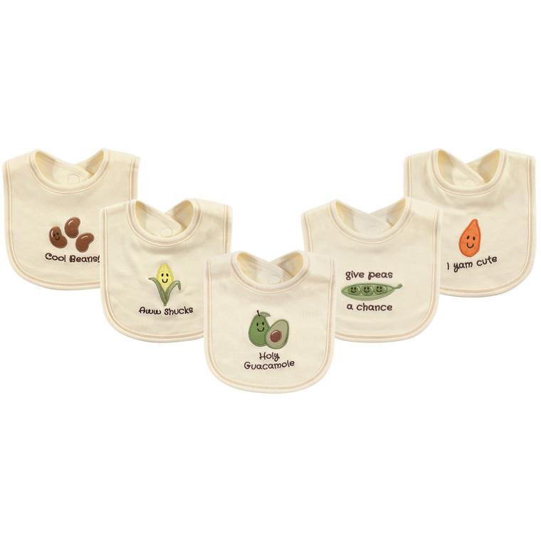 Organic Bibs, 5-Pack, Avocado