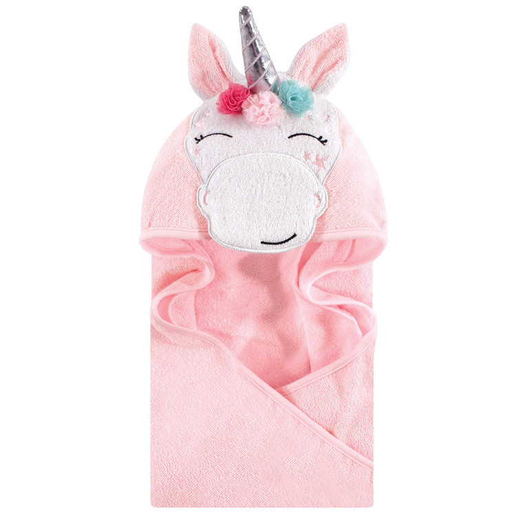Animal Face Hooded Towel, Whimsical Unicorn