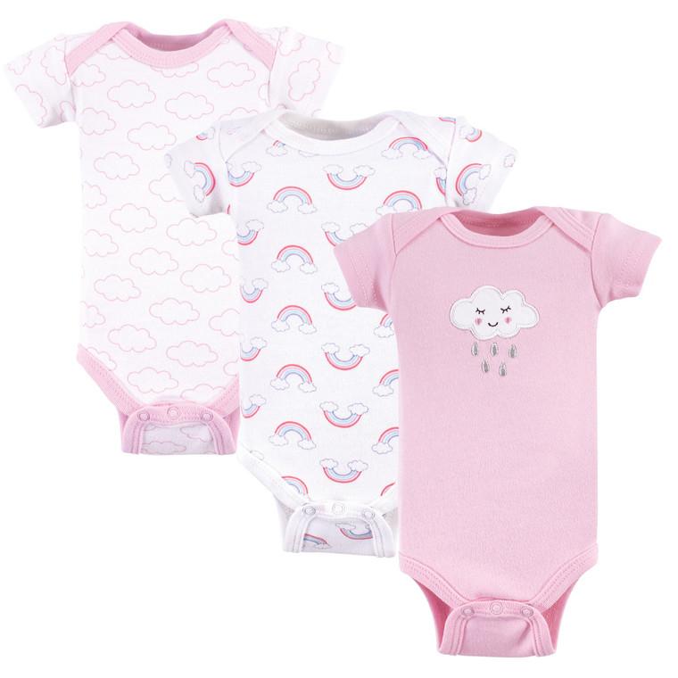 Preemie Bodysuits, 3-Pack, Girl Cloud