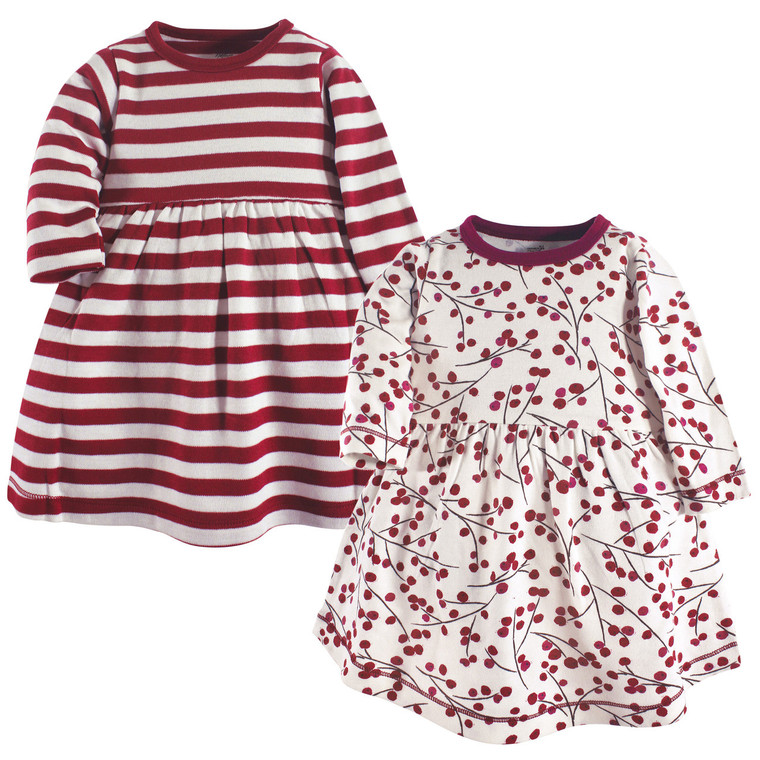 Baby Organic Cotton Dress, 2-Pack, Berry Branch
