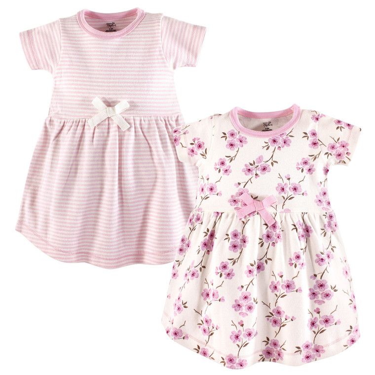 Baby Organic Cotton Dress, 2-Pack, Cherry Blossom