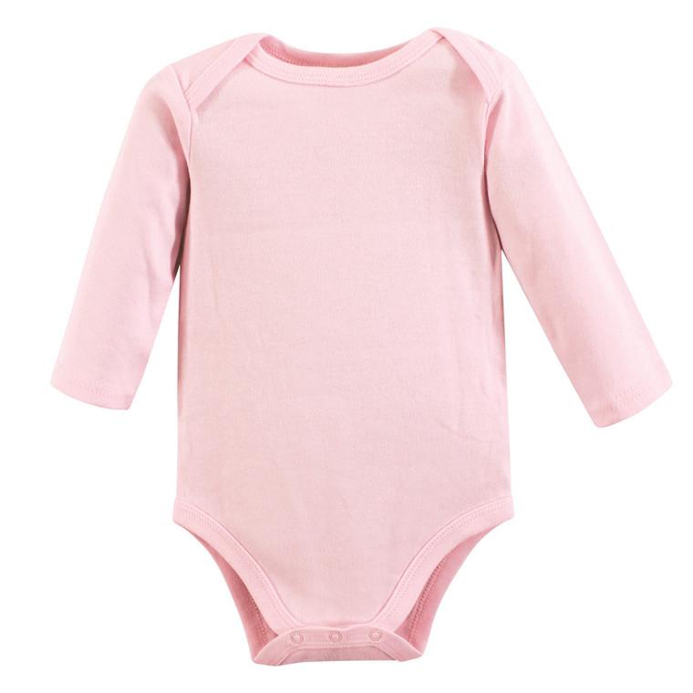 Long-Sleeve Bodysuits, 1-Pack, Pink