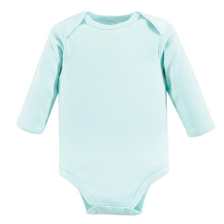 Long-Sleeve Bodysuits, 1-Pack, Aqua