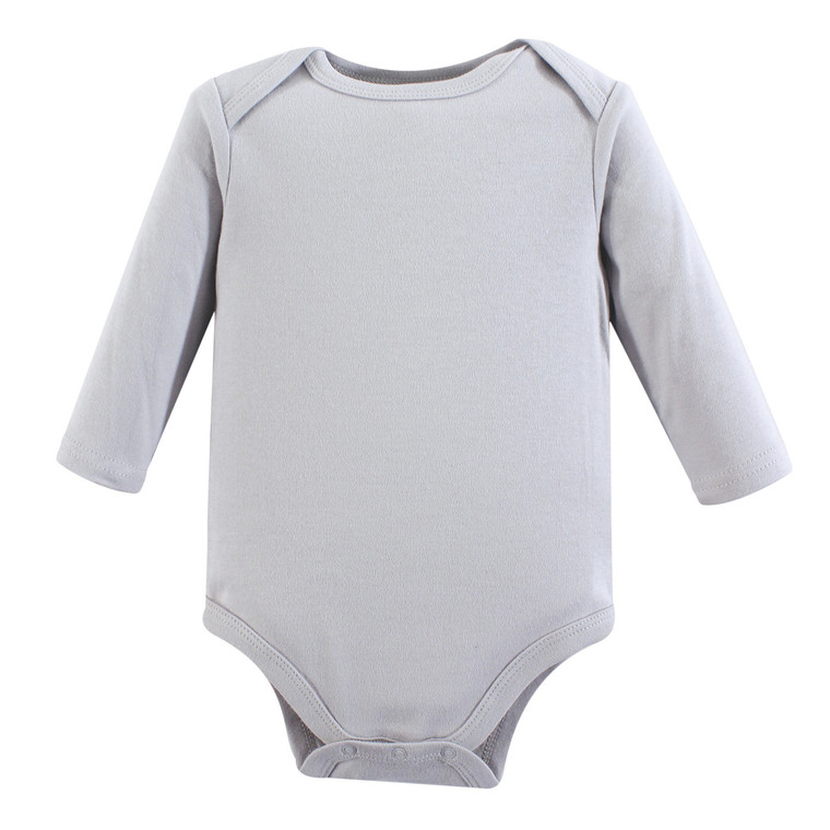 Long-Sleeve Bodysuits, 1-Pack, Gray