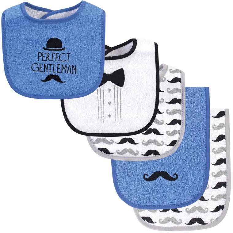 Hudson Baby 6-Piece Bib and Burp Cloth Set Airplane