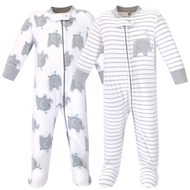 Fleece Sleep and Play 2pk, Elephants