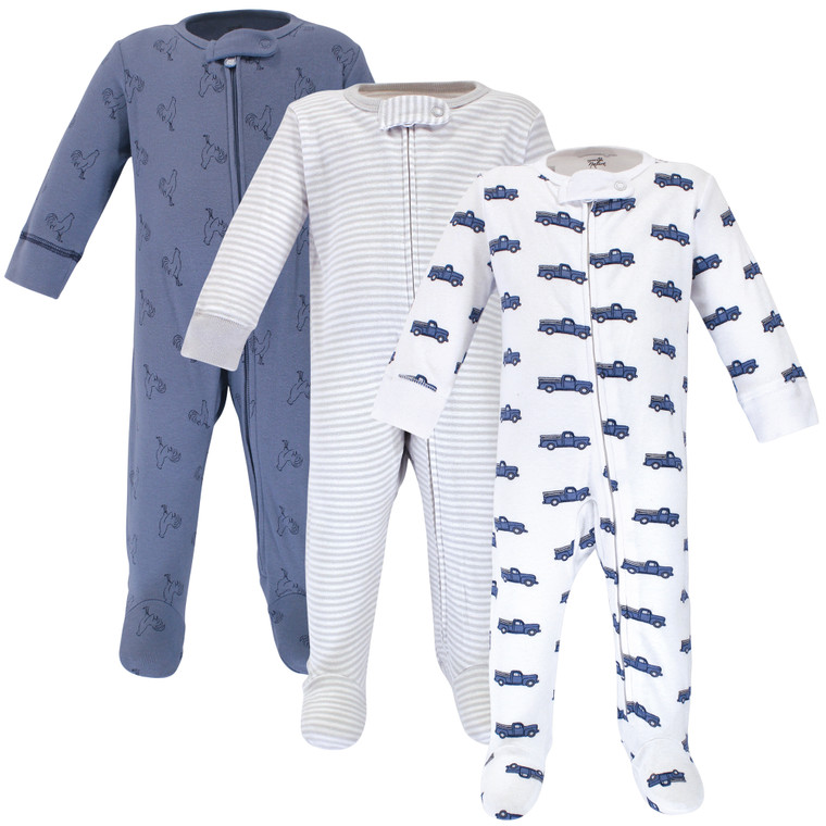 Organic Cotton Sleep and Play, Truck 3-Pack