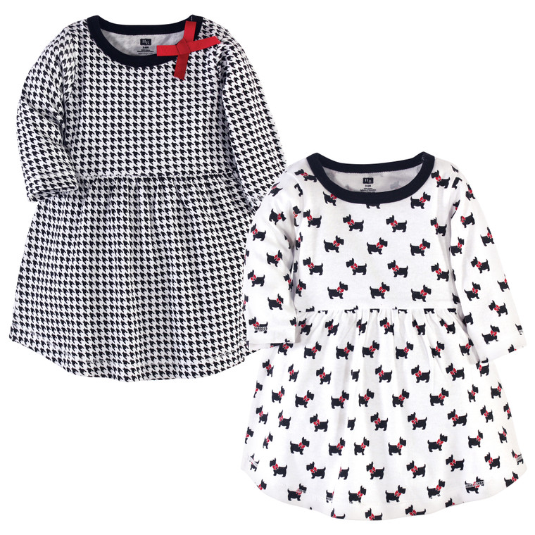 Hudson Baby Girl Long Sleeve Dress 2pk Apple