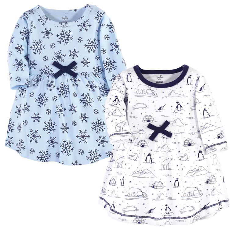 Toddler Organic Cotton Dresses, Arctic Long Sleeve 2-Pack