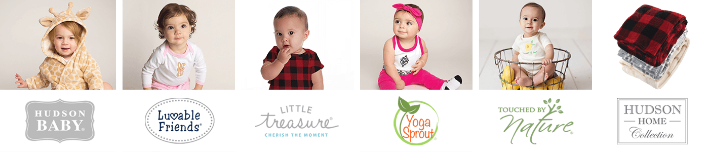 Hudson Baby, Luvable Friends, Little Treasure,  Yoga Sprout, Touched by Nature,  Hudson Home Collection