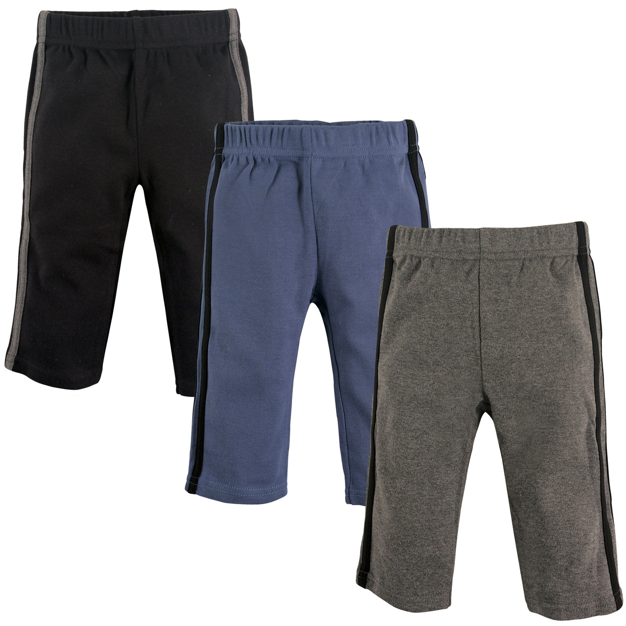 Blue /& Gray 3-Pack Hudson Baby Boy Toddler Athletic Pants